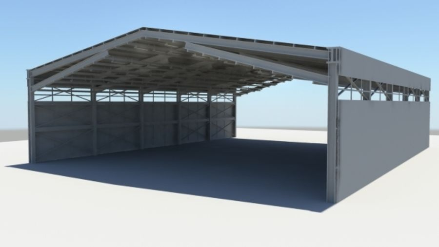 HANGAR royalty-free 3d model - Preview no. 2