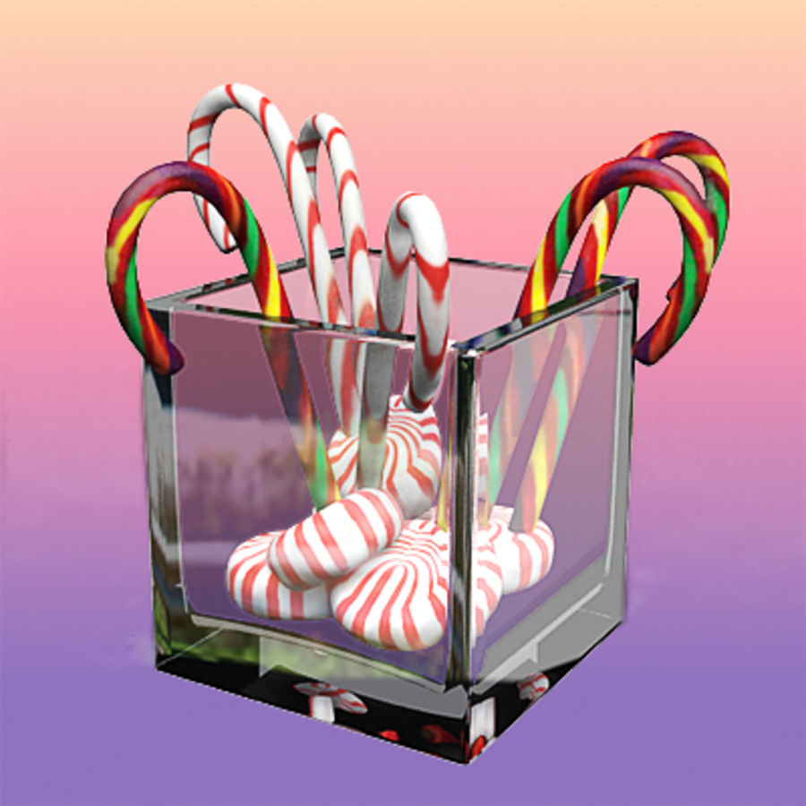 Christmas candies by 3DRivers royalty-free 3d model - Preview no. 3