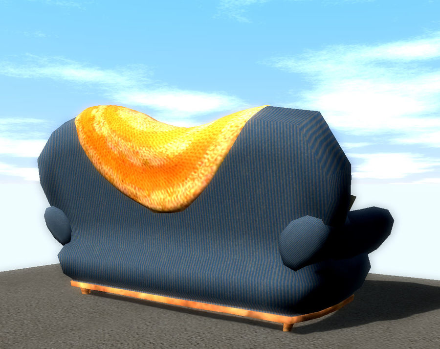 Sofa Couch royalty-free 3d model - Preview no. 3