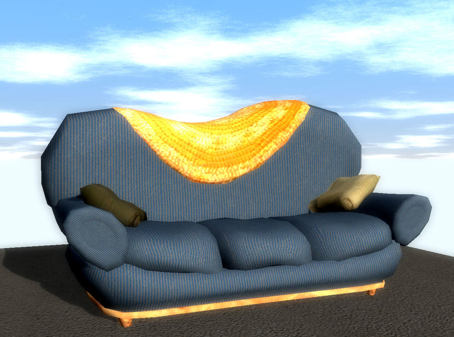 Sofa Couch royalty-free 3d model - Preview no. 1