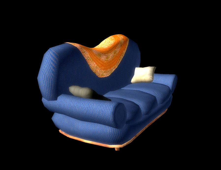Sofa Couch royalty-free 3d model - Preview no. 2