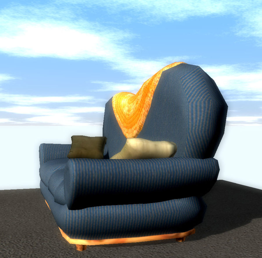 Sofa Couch royalty-free 3d model - Preview no. 4