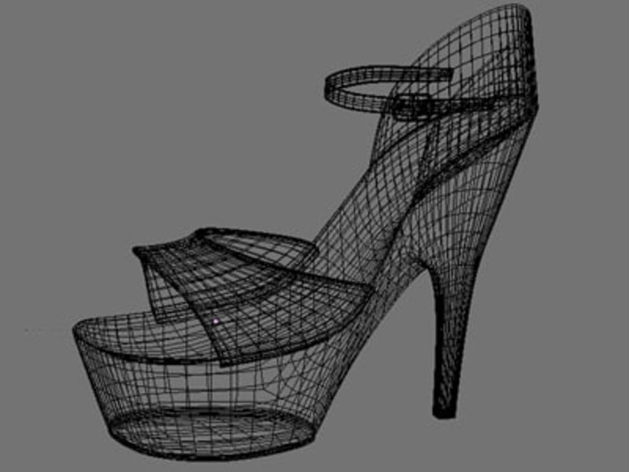 Shoes7 royalty-free 3d model - Preview no. 2