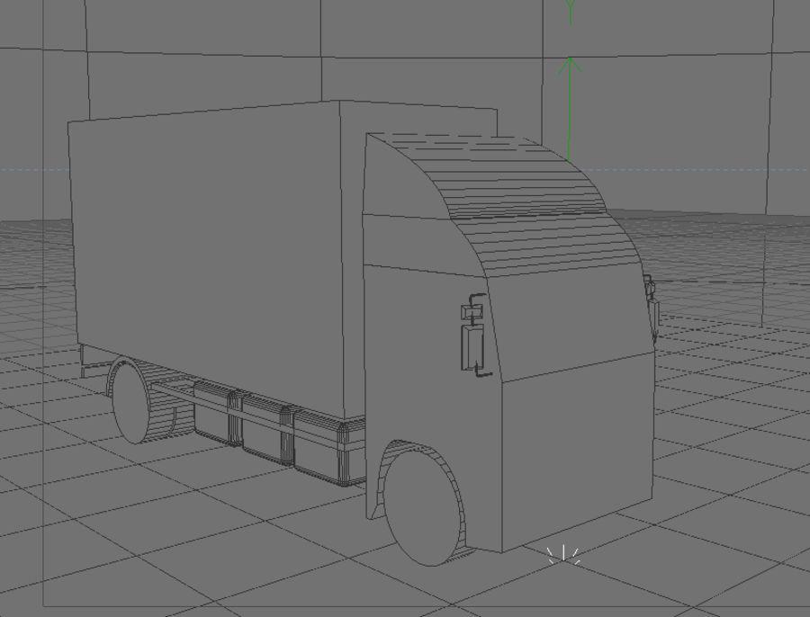 화물 트럭 - 도로 기차 royalty-free 3d model - Preview no. 5