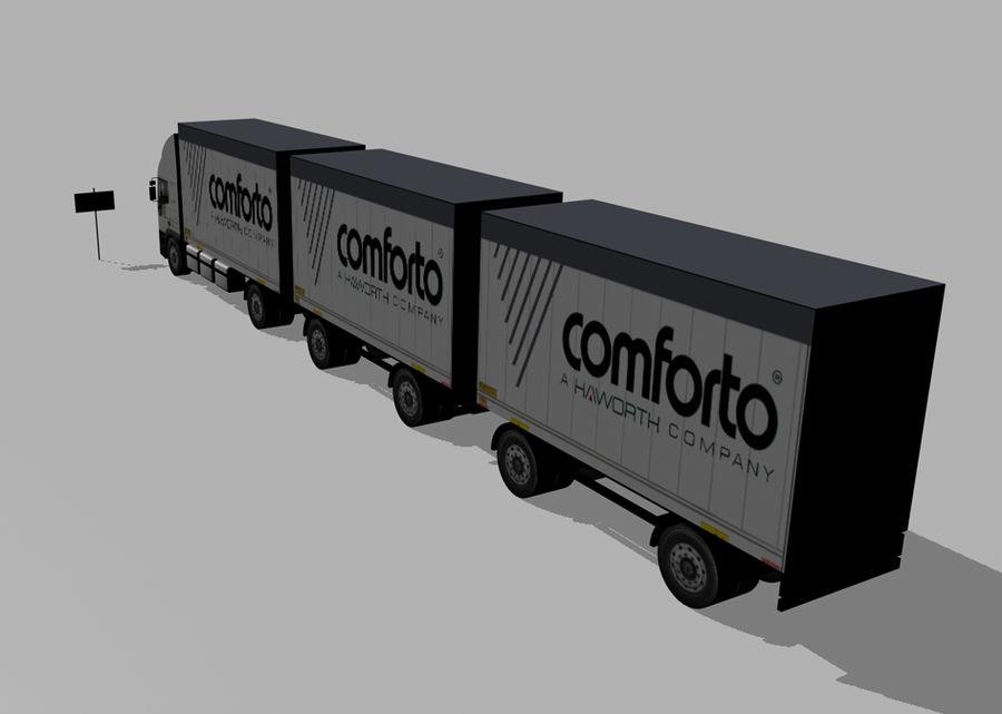 화물 트럭 - 도로 기차 royalty-free 3d model - Preview no. 3