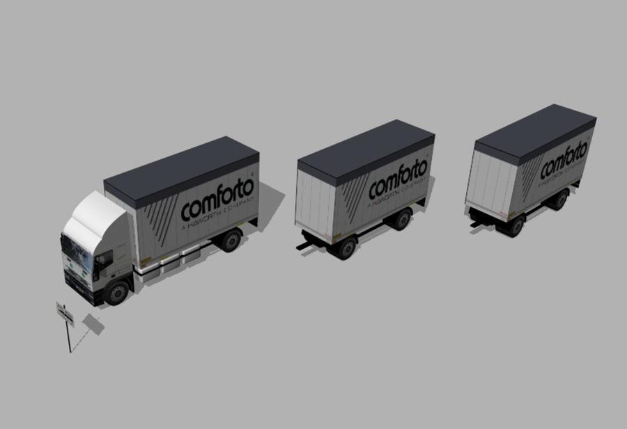 화물 트럭 - 도로 기차 royalty-free 3d model - Preview no. 4