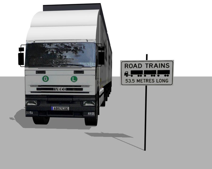 화물 트럭 - 도로 기차 royalty-free 3d model - Preview no. 1