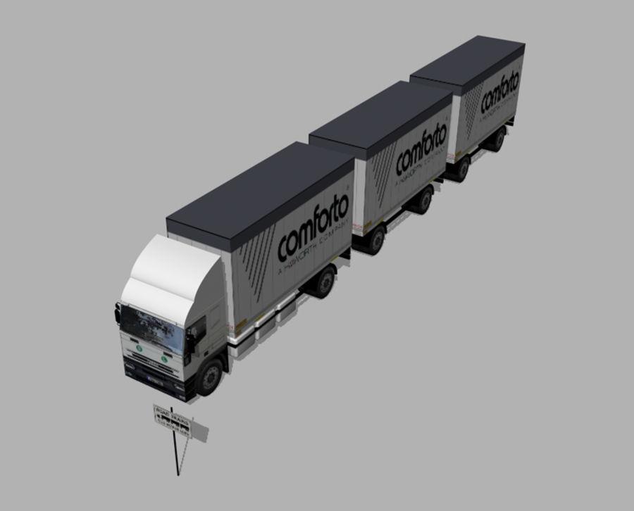 화물 트럭 - 도로 기차 royalty-free 3d model - Preview no. 2
