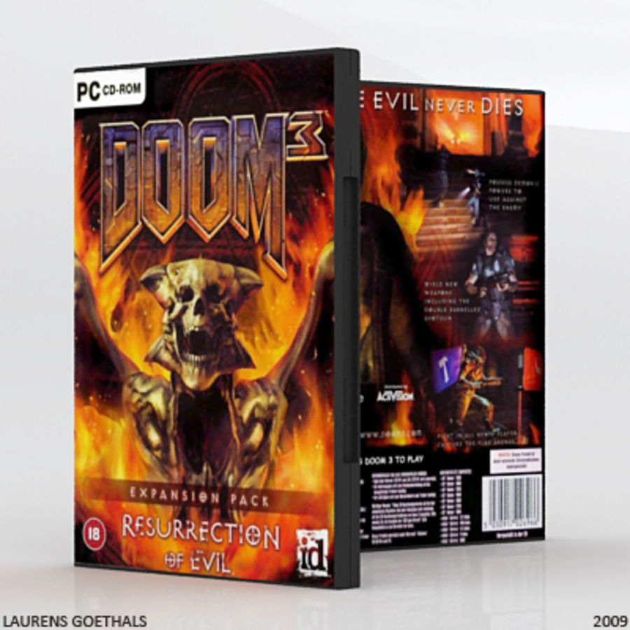 PC DVD FPS Game Collection royalty-free 3d model - Preview no. 7