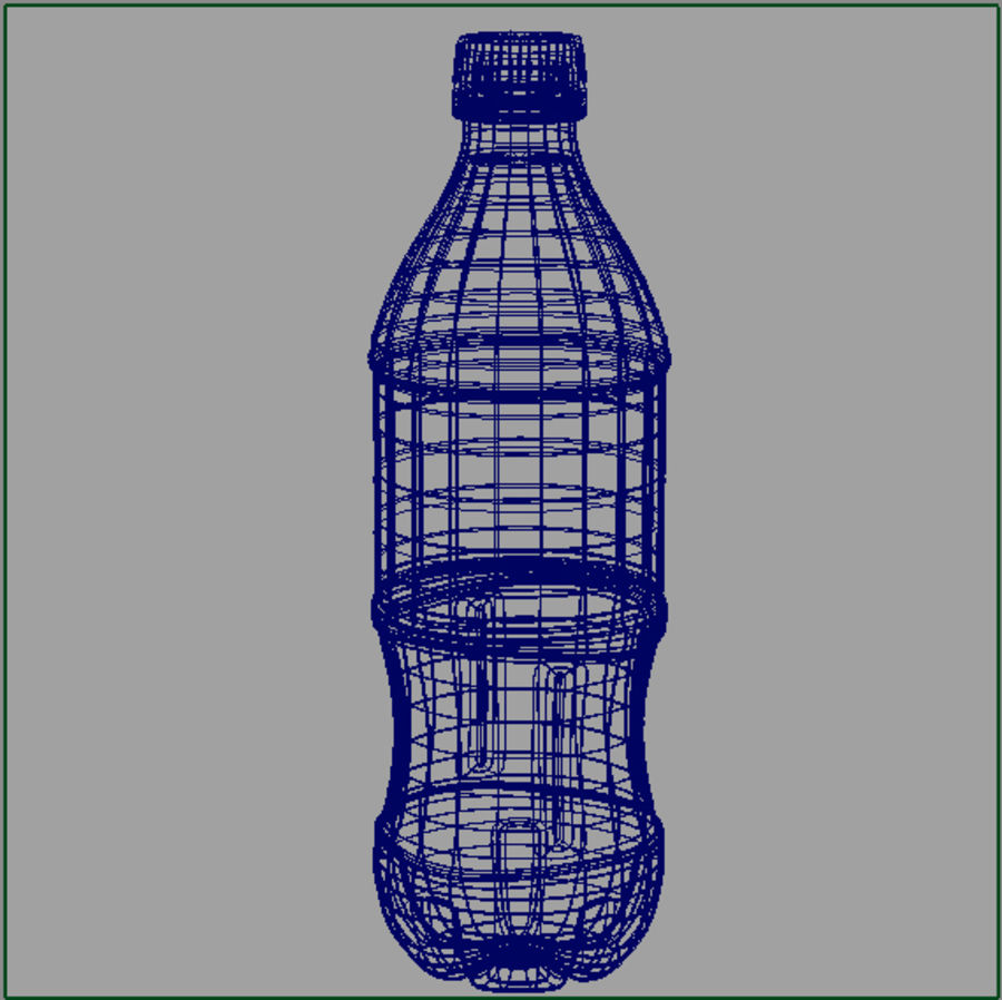 Garrafa de refrigerante royalty-free 3d model - Preview no. 3
