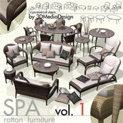 3DMD SPA1 - Rattan Exterior Furniture Library 3d model