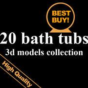 20 bath tubs 3d model