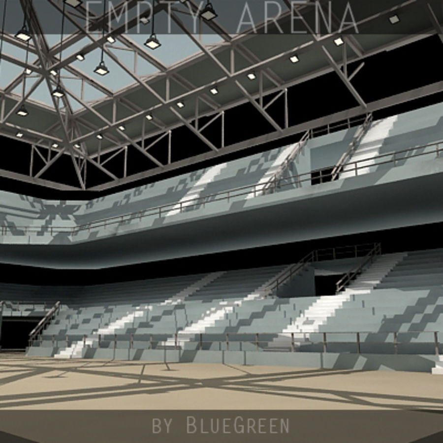 Stadium Lights C4d: 3d Empty Arena 3D Model $45
