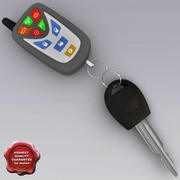 Car Key and Remote V1 3d model