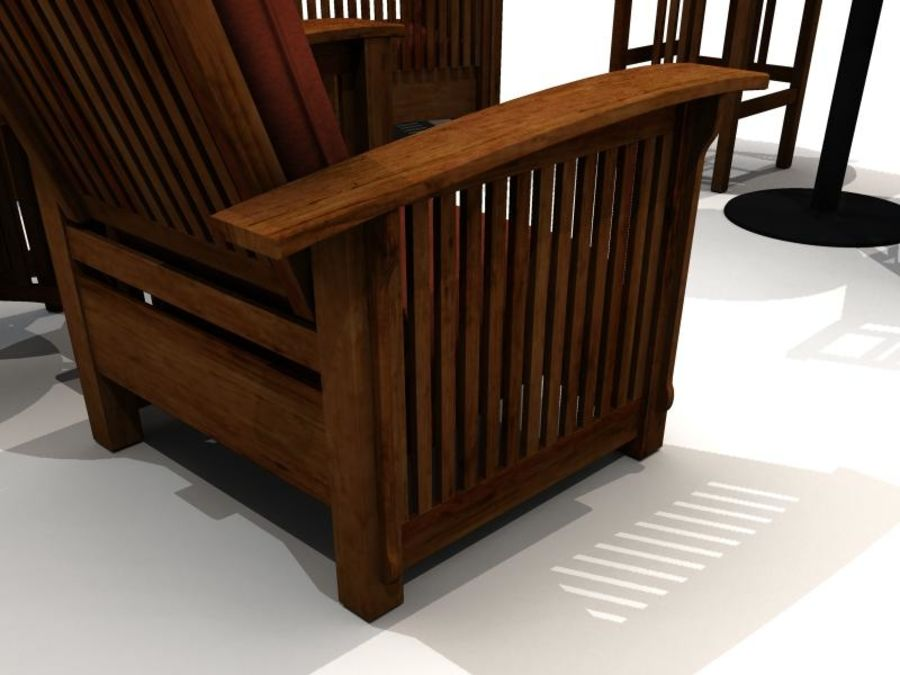 MISSION STYLE FURNITURE royalty-free 3d model - Preview no. 4