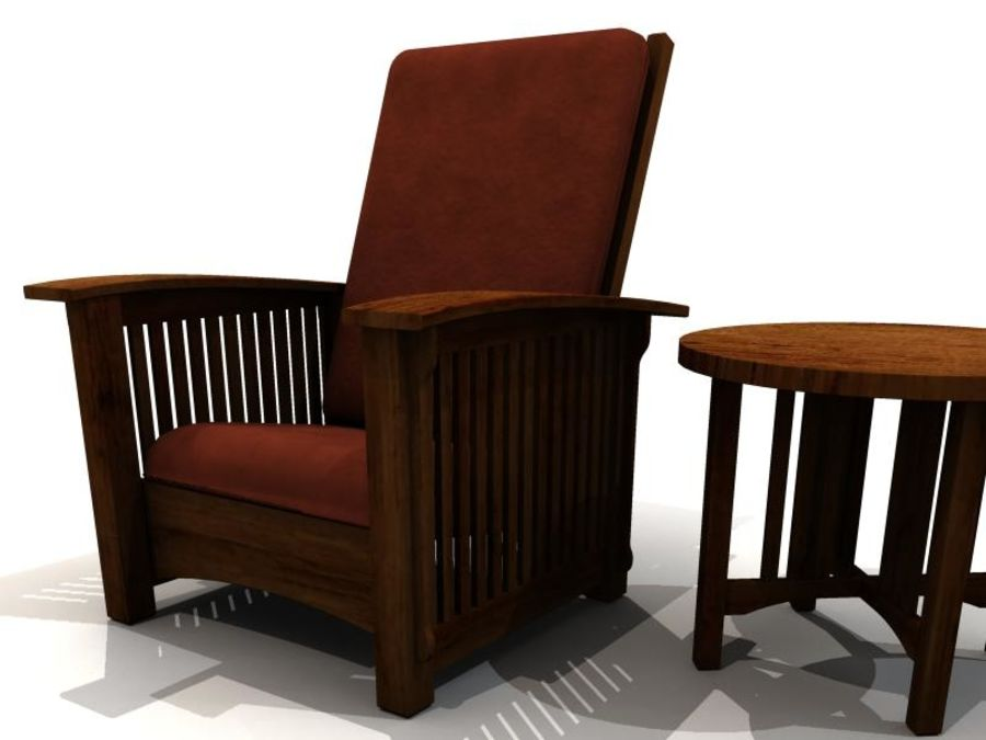MISSION STYLE FURNITURE royalty-free 3d model - Preview no. 5