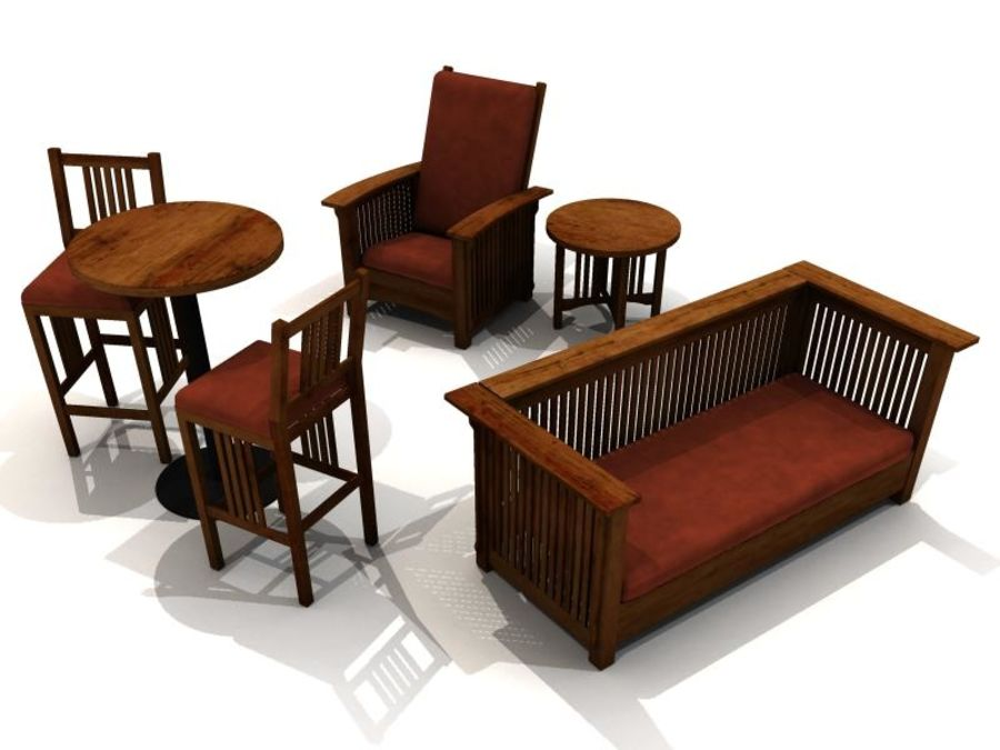 MISSION STYLE FURNITURE royalty-free 3d model - Preview no. 1