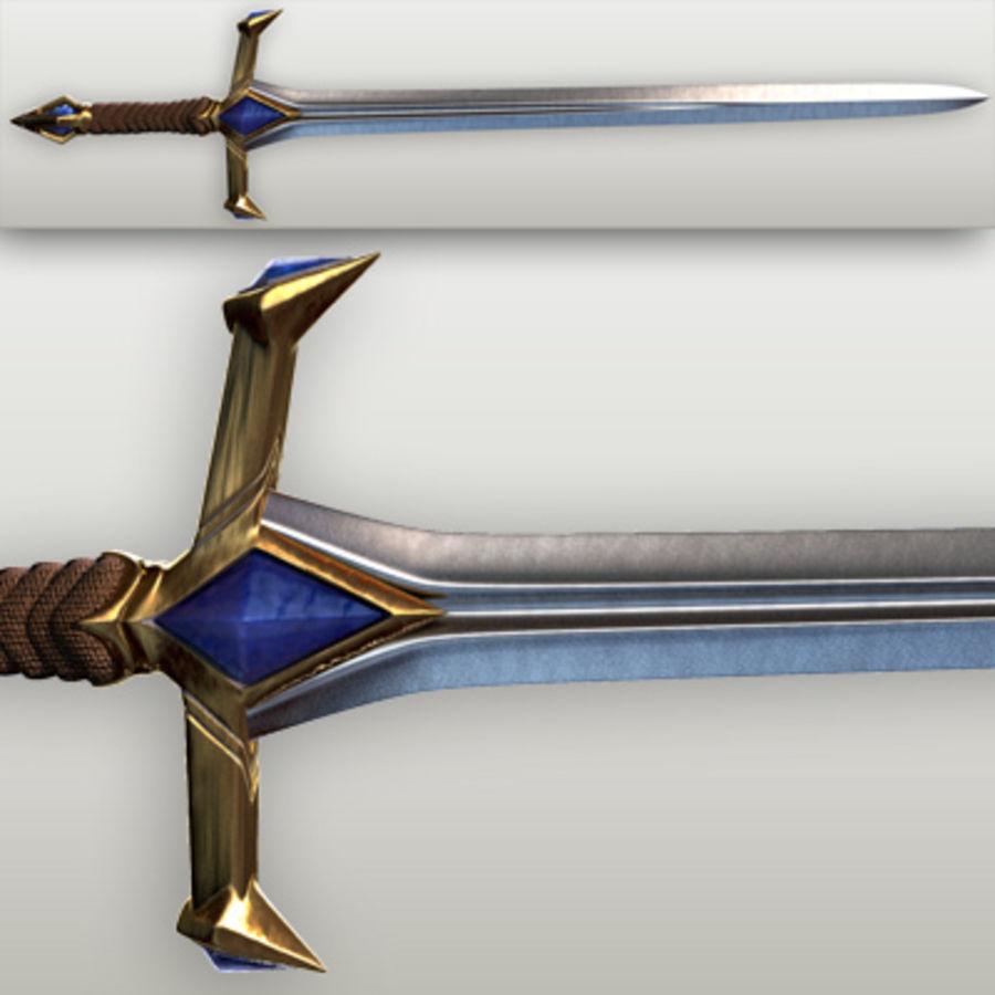 Fantasy knight sword royalty-free 3d model - Preview no. 5