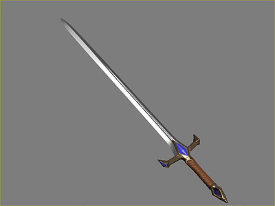 Fantasy knight sword royalty-free 3d model - Preview no. 8