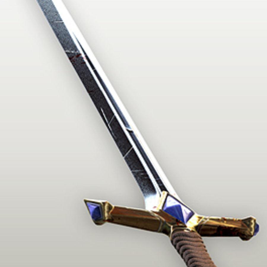 Fantasy knight sword royalty-free 3d model - Preview no. 7