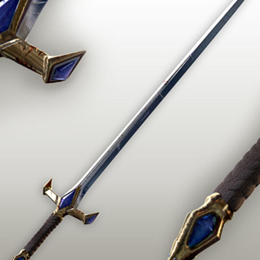 Fantasy knight sword royalty-free 3d model - Preview no. 3