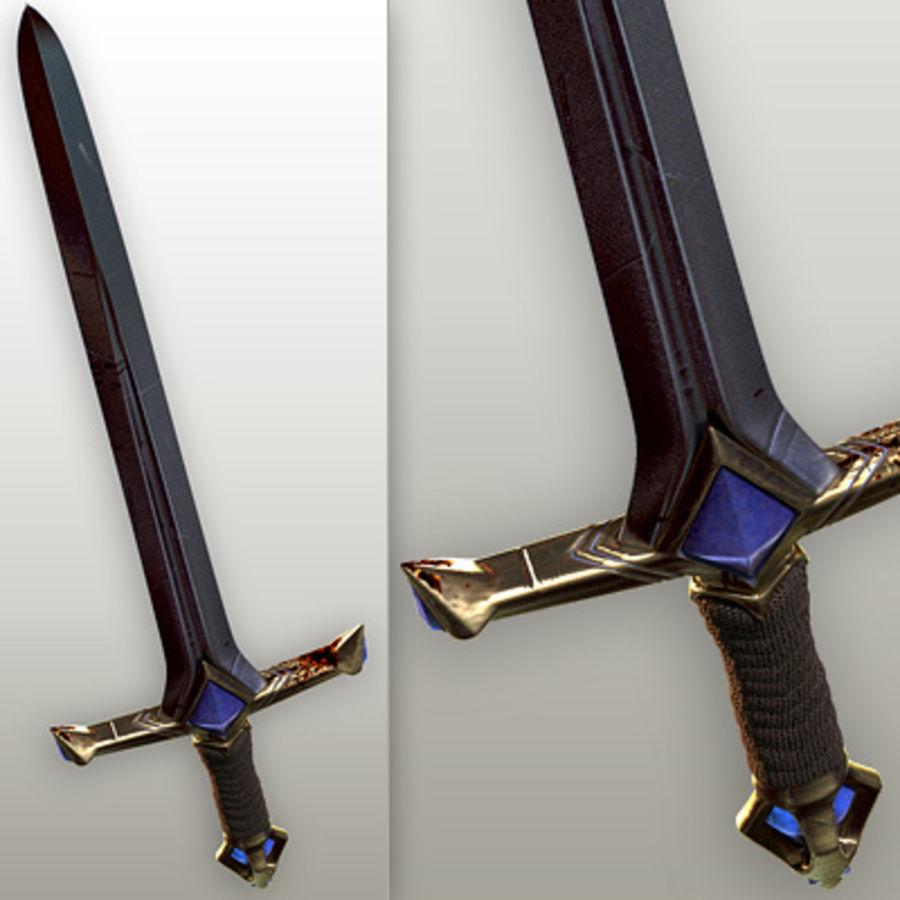 Fantasy knight sword royalty-free 3d model - Preview no. 4