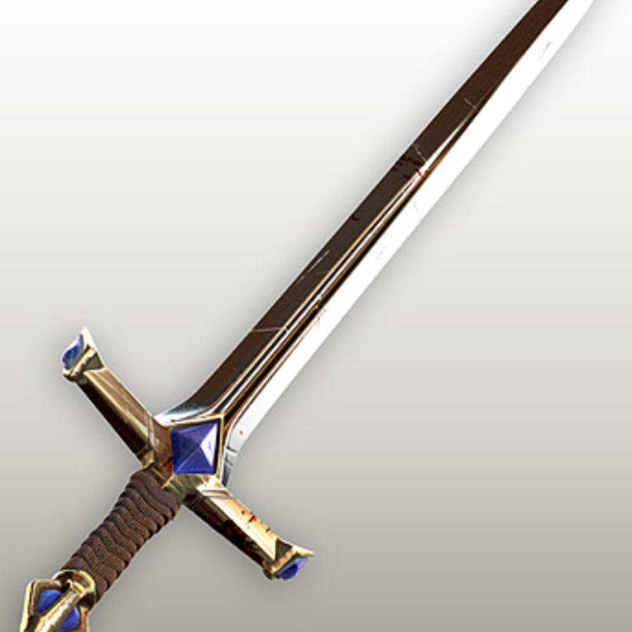 Fantasy knight sword royalty-free 3d model - Preview no. 2