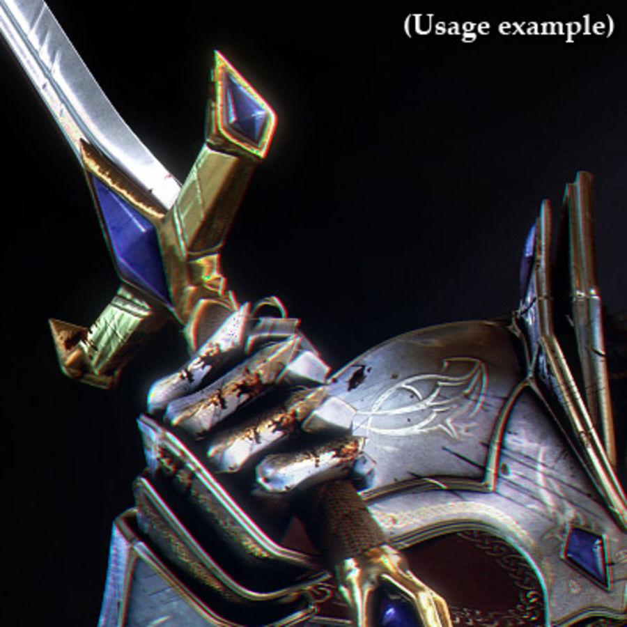 Fantasy knight sword royalty-free 3d model - Preview no. 10