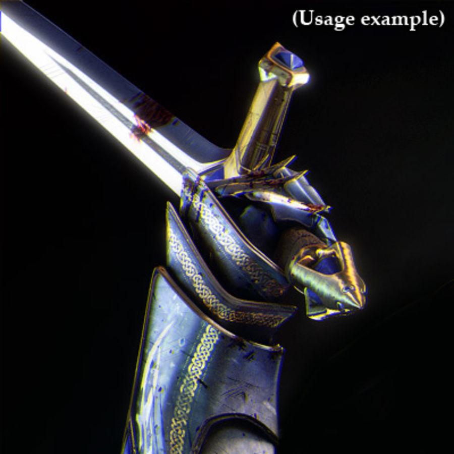 Fantasy knight sword royalty-free 3d model - Preview no. 11