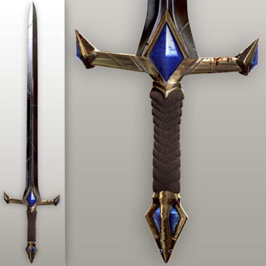 Fantasy knight sword royalty-free 3d model - Preview no. 1