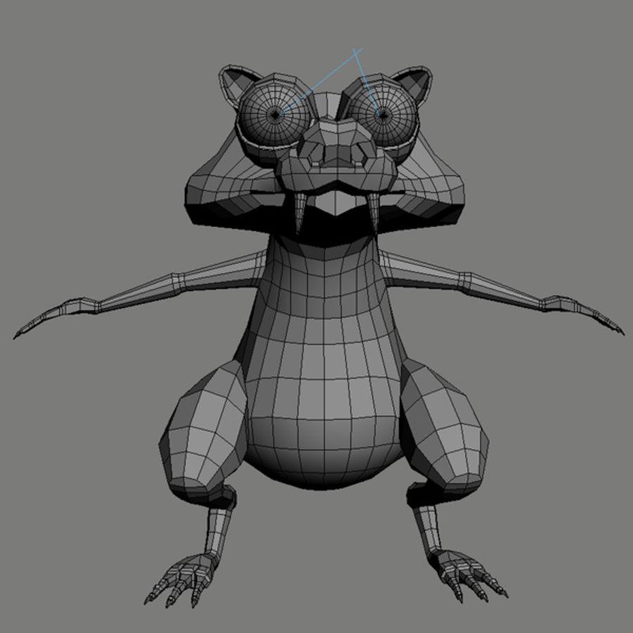 Scrat royalty-free 3d model - Preview no. 9