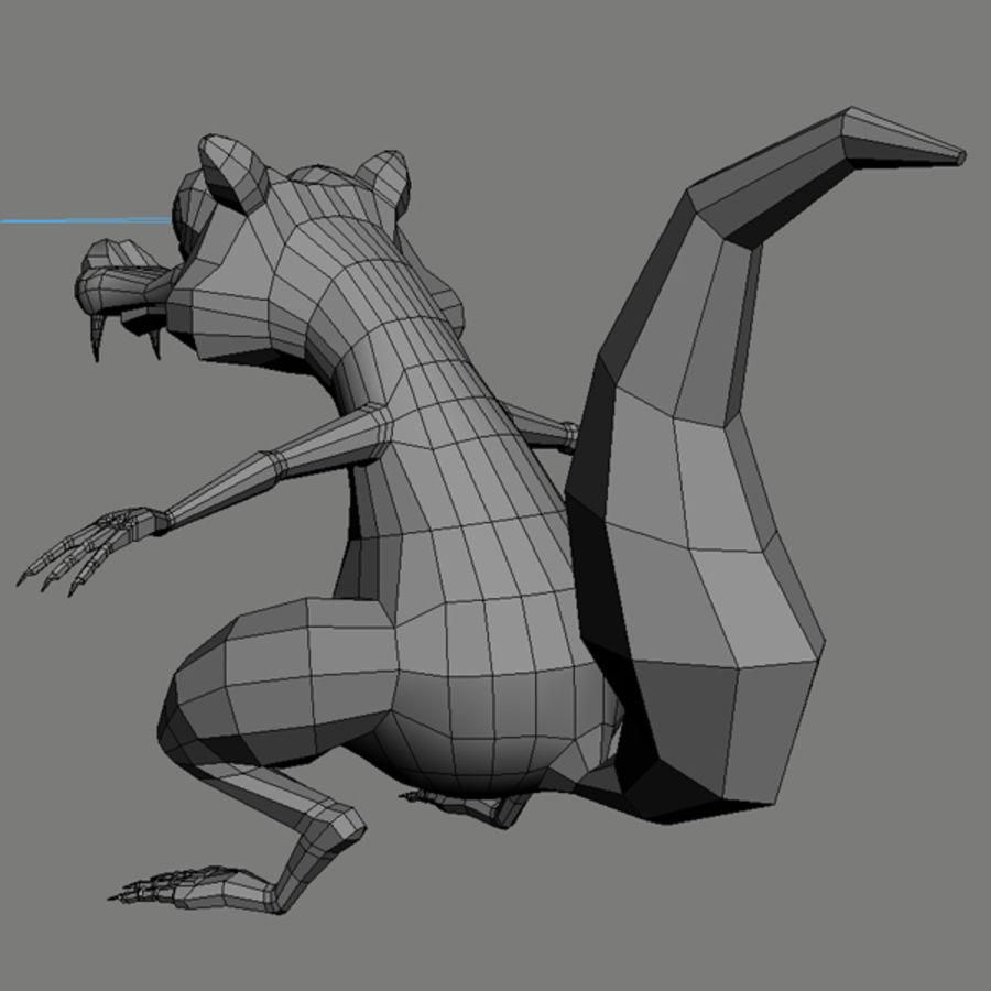 Scrat royalty-free 3d model - Preview no. 10