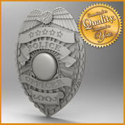 US Police Badge 3d model