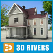 Small town house 06 by 3DRivers 3d model