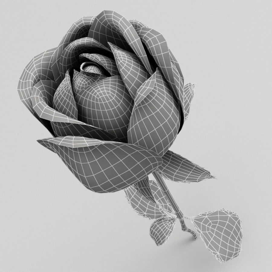 Rose royalty-free 3d model - Preview no. 2