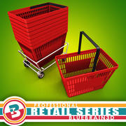 Grocery - Basket 3d model