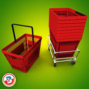 Grocery - Basket 3d model
