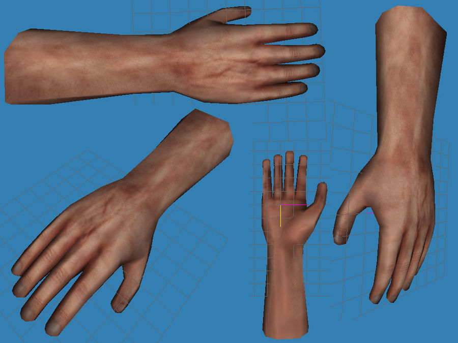 mano royalty-free modelo 3d - Preview no. 2