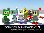 화이트 봄버맨 3d model