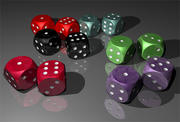 dice all.mb 3d model