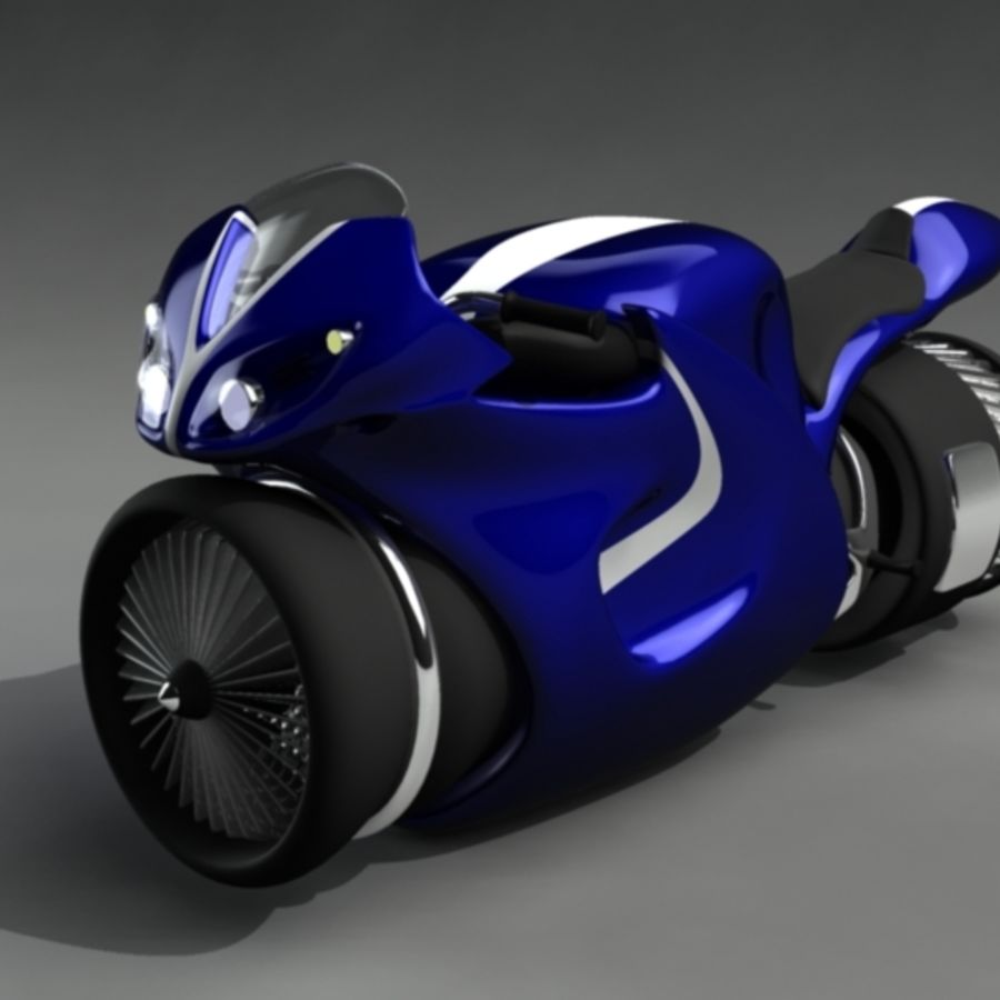 JetBike royalty-free 3d model - Preview no. 5