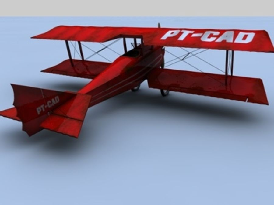 Snyder McReady Bomber WWI royalty-free 3d model - Preview no. 2