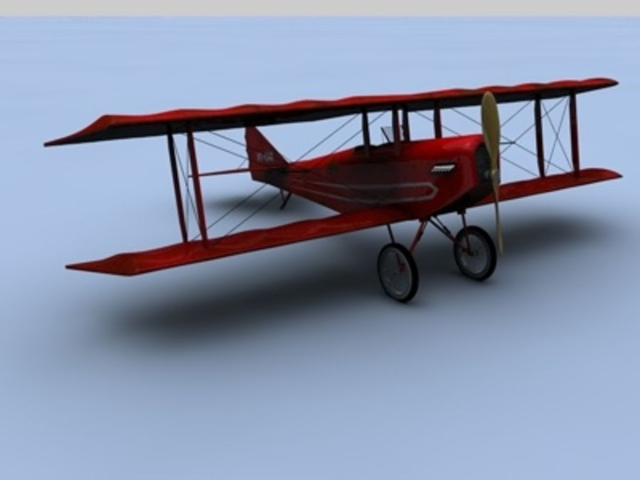 Snyder McReady Bomber WWI royalty-free 3d model - Preview no. 1