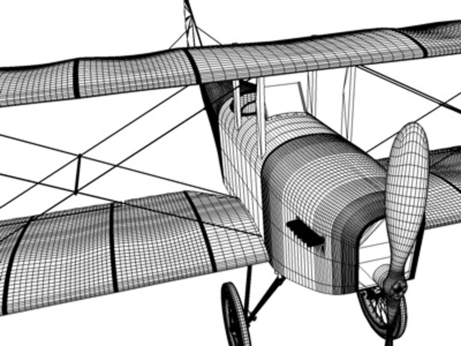 Snyder McReady Bomber WWI royalty-free 3d model - Preview no. 5