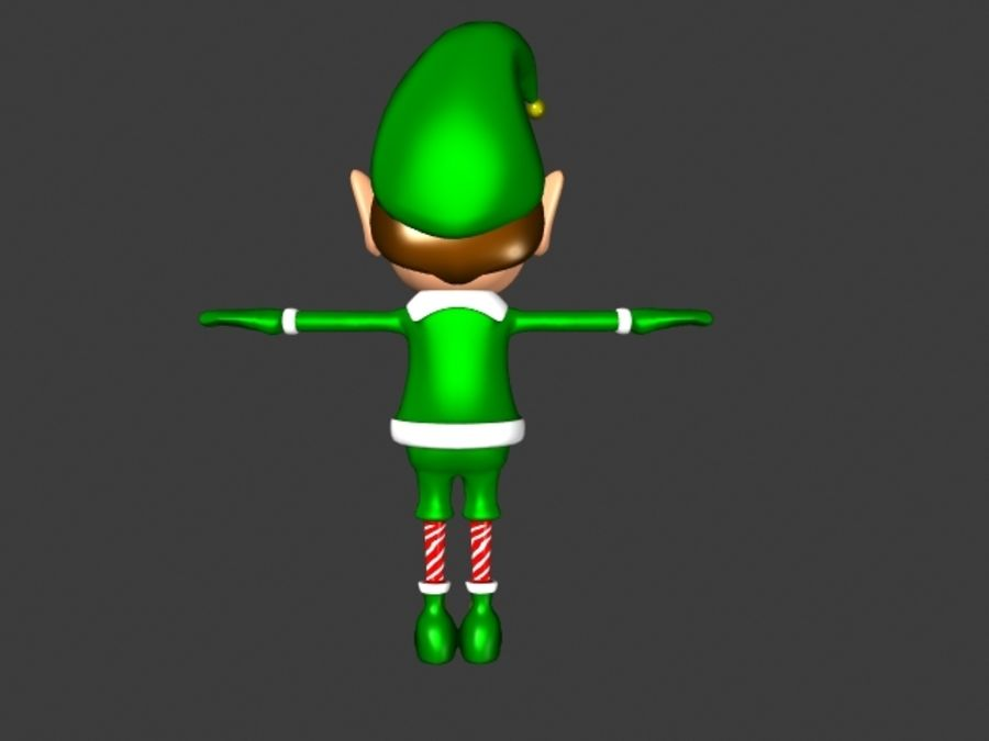 Christmas Elf royalty-free 3d model - Preview no. 3