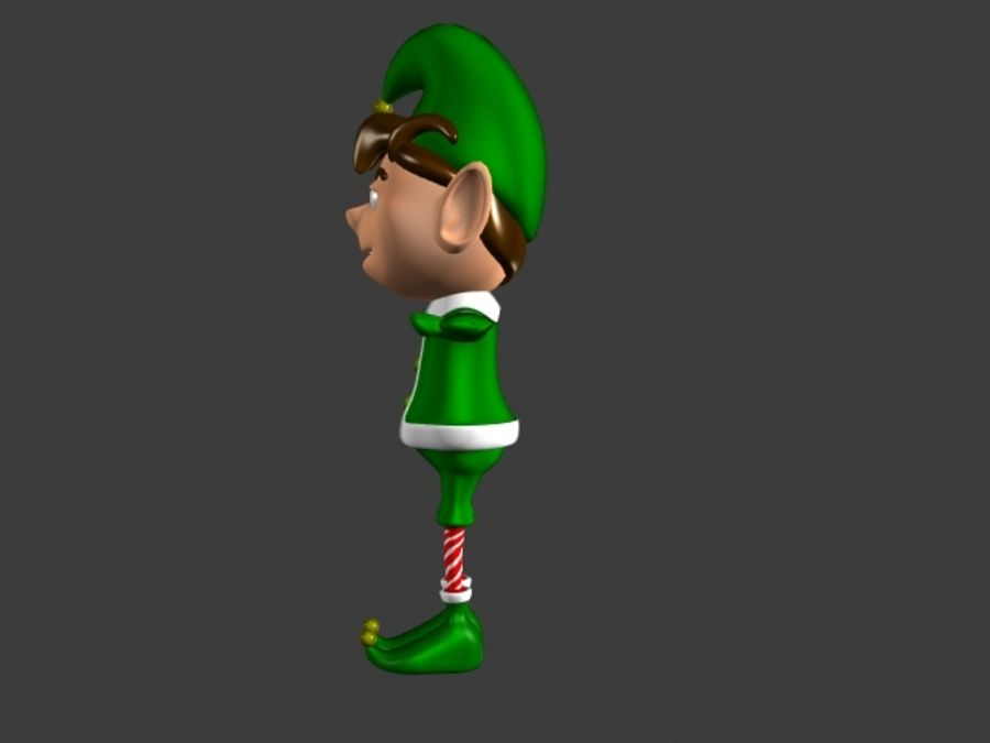 Christmas Elf royalty-free 3d model - Preview no. 2