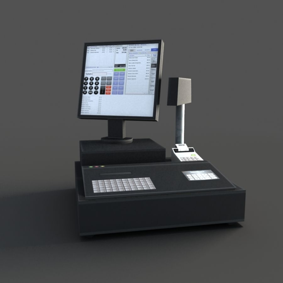 Cash Register royalty-free 3d model - Preview no. 1