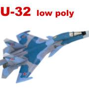 SU-32(34)_lowpoly 3d model