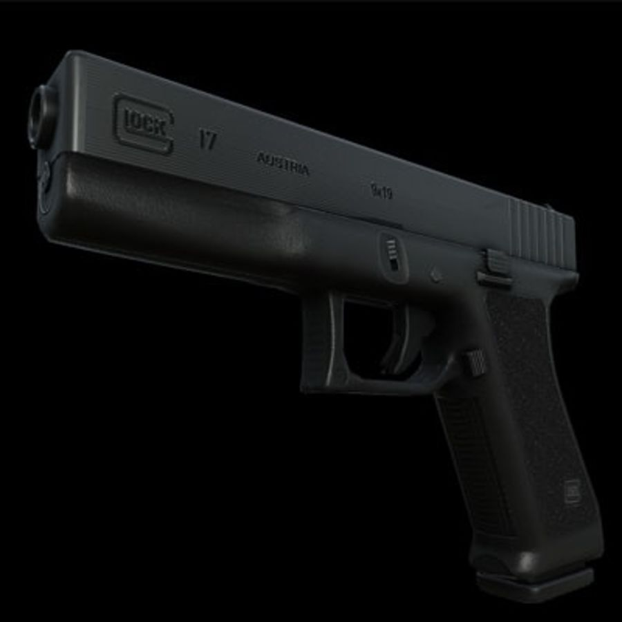 Glock 17 royalty-free modelo 3d - Preview no. 1