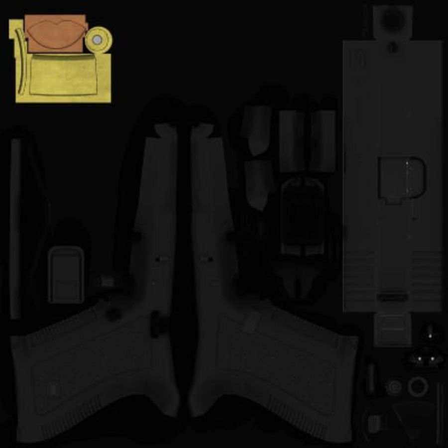 Glock 17 royalty-free modelo 3d - Preview no. 7